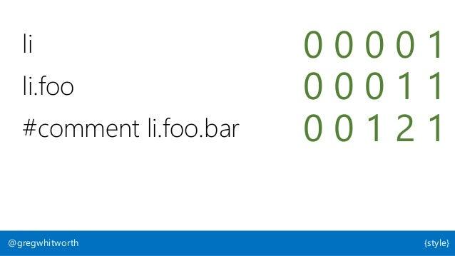 "li 0 0 0 0 1 li.foo 0 0 0 1 1 #comment li.foo.bar 0 0 1 2 1 <li style=""color: red""> 0 1 0 0 0 color: red !important 1 0 0 ..."