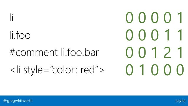 """bit.ly/css-short-selectors @gregwhitworth {style} """"Keep your CSS selectors short"""" by Harry Roberts"""
