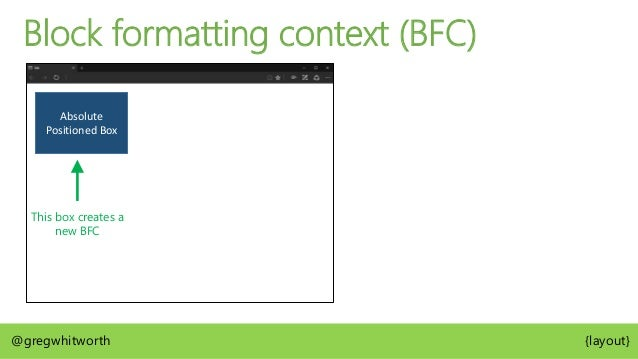 http://bit.ly/containing-block @gregwhitworth {layout} W3C CSS 2.2 Definition of Containing Block