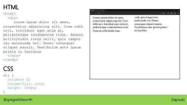 Box Tree CSS Box @gregwhitworth {layout} <body>