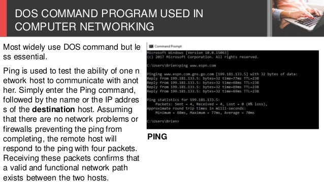 CSS L17 - DOS COMMANDS IN COMPUTER NETWORKING