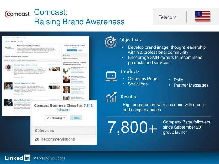 Comcast:                                          TelecomRaising Brand Awareness                       Objectives         ...
