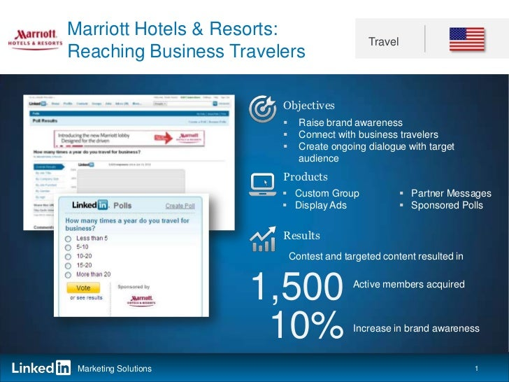 Marriott Hotels & Resorts:                                              TravelReaching Business Travelers                 ...