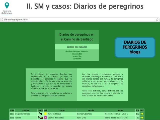 DIARIOS DE PEREGRINOS blogs II. SM y casos: Diarios de peregrinos