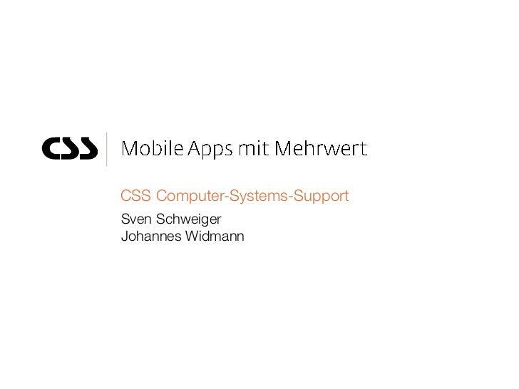 CSS Computer-Systems-SupportSven SchweigerJohannes Widmann
