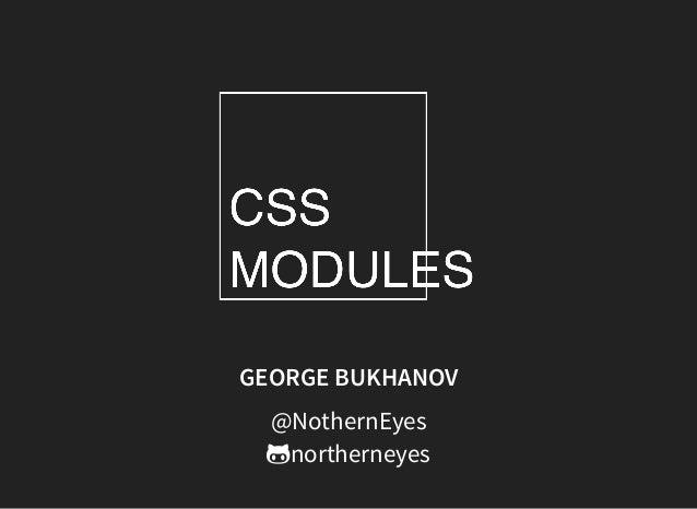 GEORGE BUKHANOV @NothernEyes northerneyes