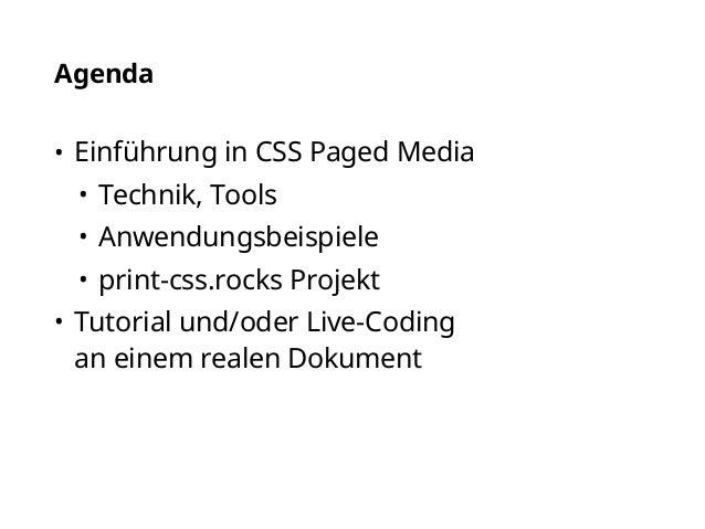 Generierung von PDF aus XML/HTML mit PrintCSS Slide 2