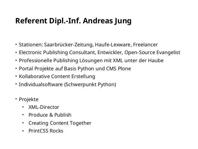 Generierung von PDF aus XML/HTML mit PrintCSS Slide 3