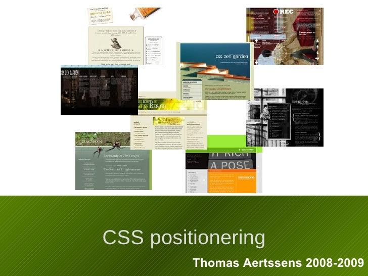 CSS positionering Thomas Aertssens 2008-2009