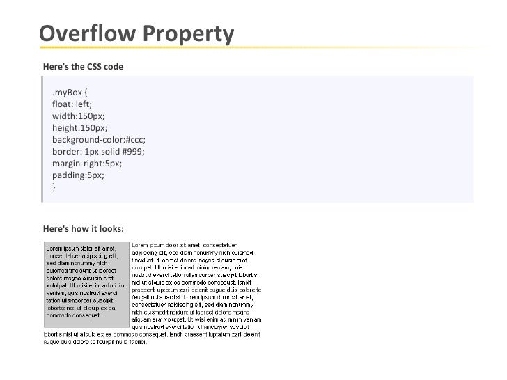 Overflow Property With The Values Of Scroll