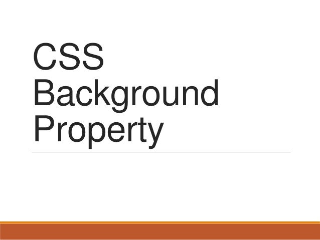 CSS Background Property