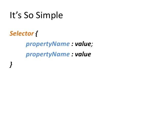 Css selectors Slide 2