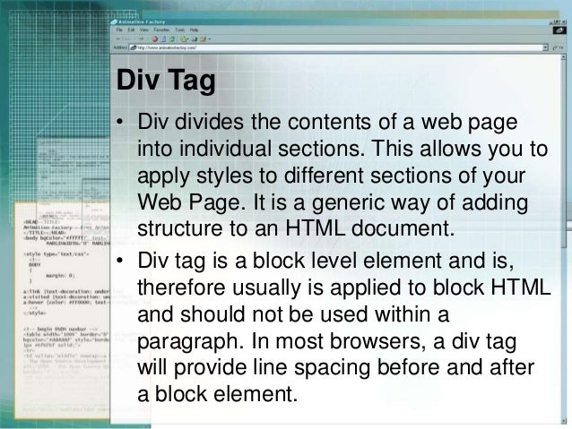 Css selectors div span and link - Attributes of table tag in html ...