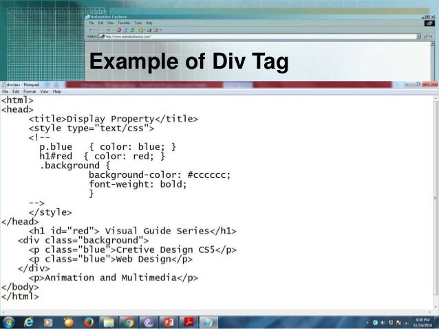 Css selectors div span and link - Div tag in html ...