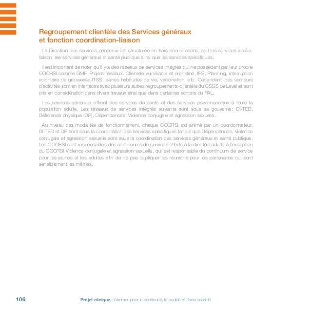 Csss Laval  projet clinique 2011-2016