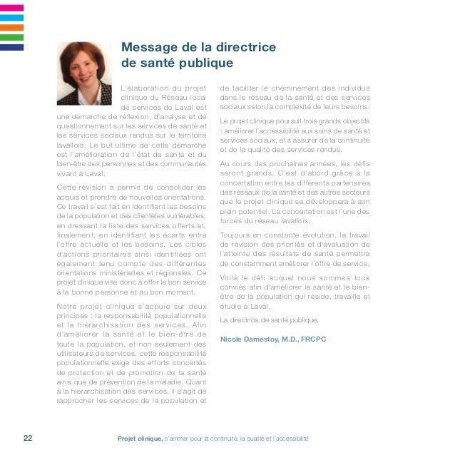 Projet clinique, s'arrimer pour la continuité, la qualité et l'accessibilité24 travaux du COCRSI Famille-Enfance-Jeunesse ...