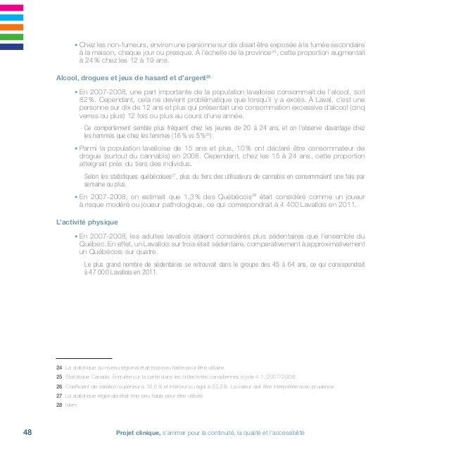 Projet clinique, s'arrimer pour la continuité, la qualité et l'accessibilité50 Le poids corporel • En 2007-2008, près d'un...