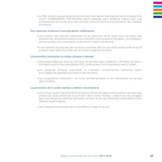 Projet clinique, s'arrimer pour la continuité, la qualité et l'accessibilité60 Priorités Actions à réaliser 1. L'action au...