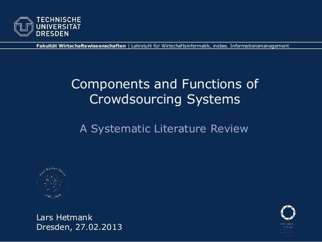 Fakultät Wirtschaftswissenschaften | Lehrstuhl für Wirtschaftsinformatik, insbes. Informationsmanagement              Comp...