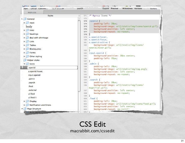 CSS Edit macrabbit.com/cssedit                          21