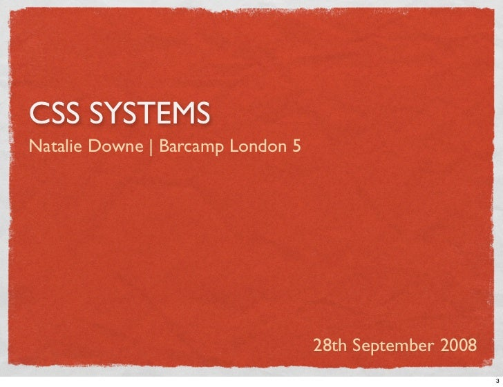 CSS Systems Slide 3