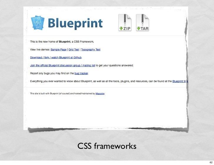 CSS frameworks                  42