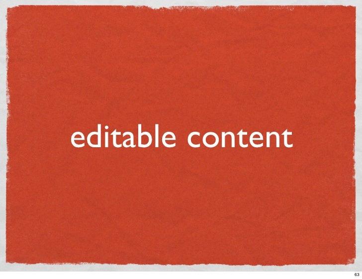 editable content                      63