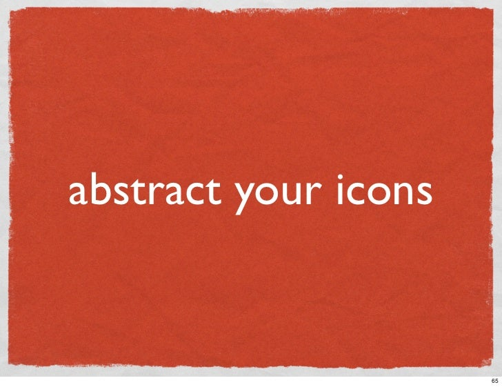 abstract your icons                         65