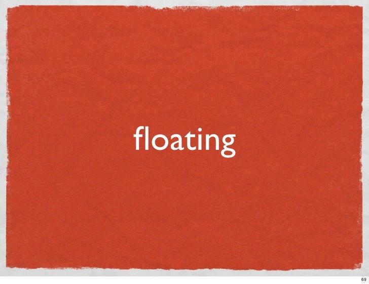 floating             69