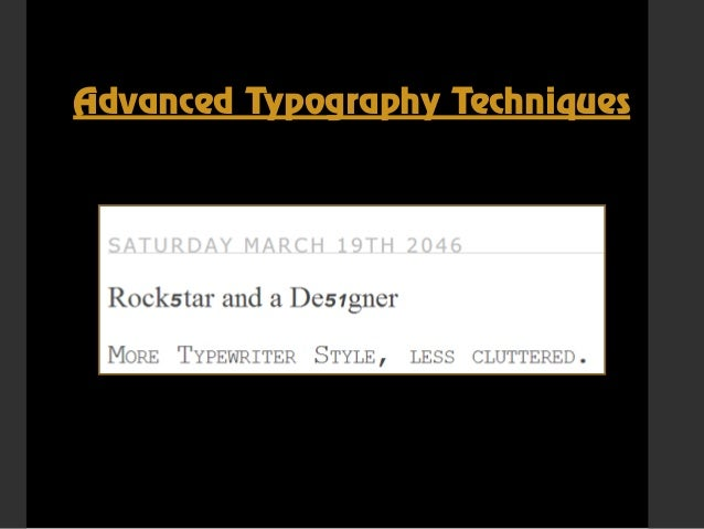 css text effects and typography tips