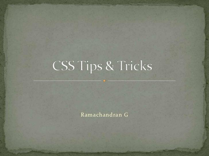 Ramachandran G