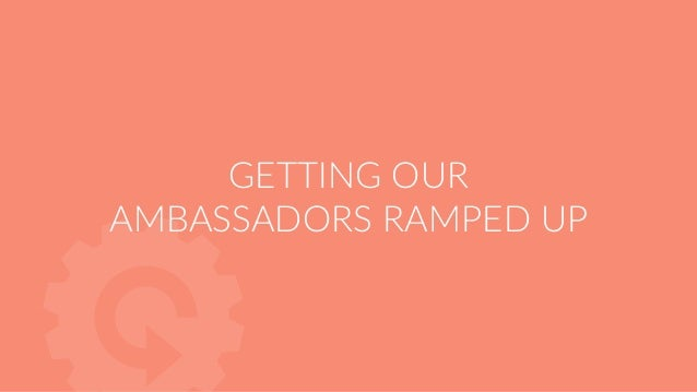Training cadence 1 or 2 calls in the first 30 days to ramp up the Ambassador 1 consulting call every 90 days after that Ea...