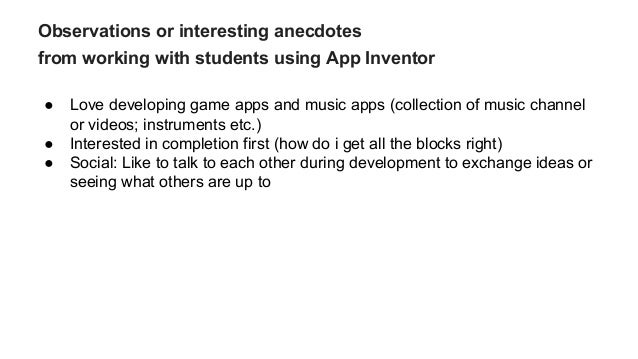 Mobile Computing with App Inventor in Middle and High School
