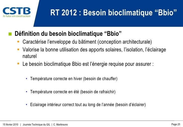 R glementation par le cstb - Conception bioclimatique definition ...