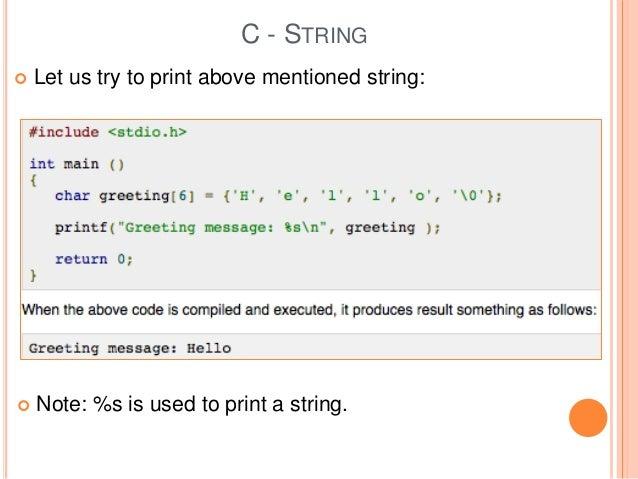 C string