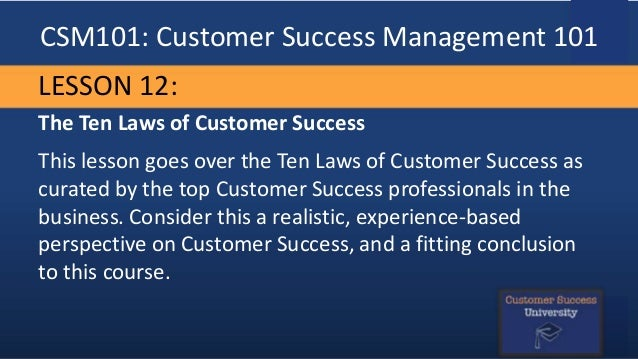 customer success management 101 curriculum preview