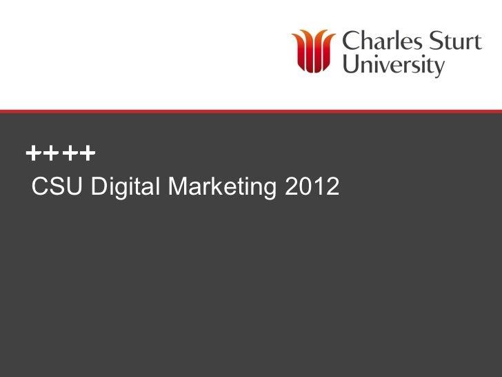 CSU Digital Marketing 2012                             DIVISION OF MARKETING