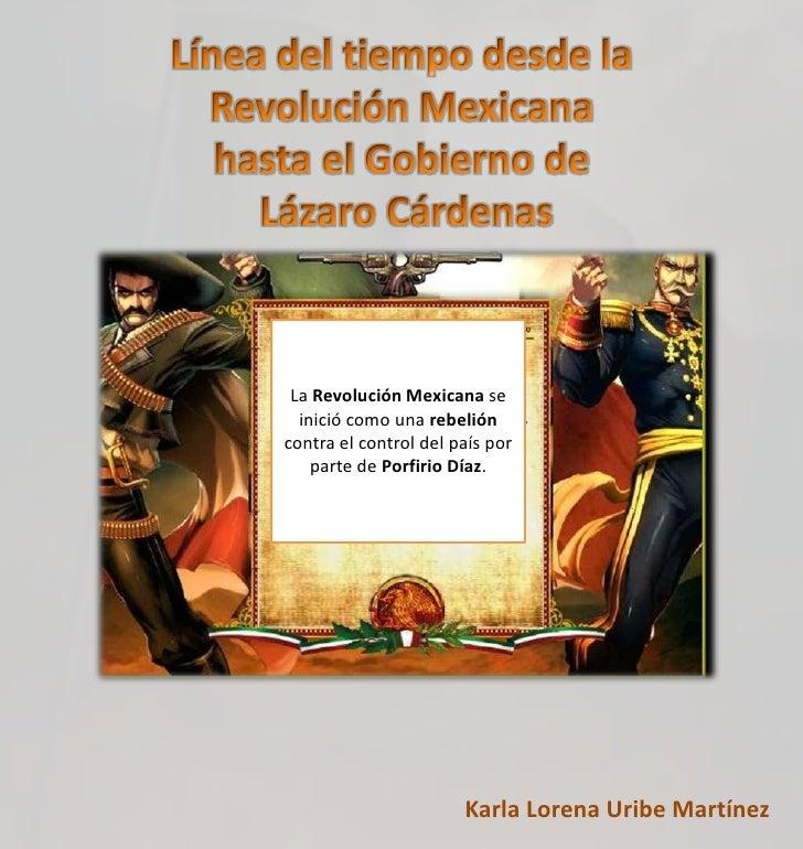 La Revolución Mexicana se  inició como una rebelióncontra el control del país por    parte de Porfirio Díaz.              ...