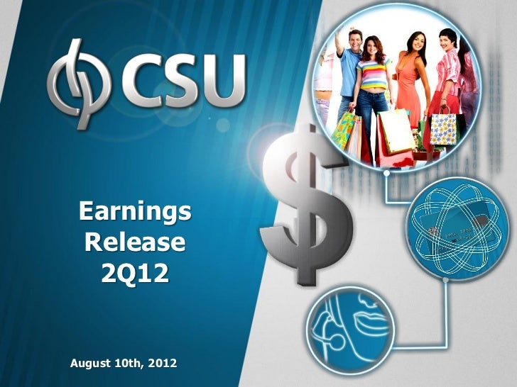 Earnings Release  2Q12August 10th, 2012