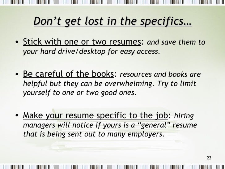 how to build your resume in college