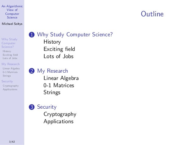 An algorithmic view of Computer Science Slide 3