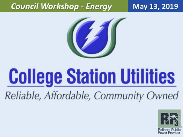 May 13, 2019Council Workshop - Energy