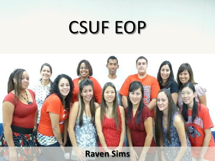 CSUF EOP<br />Raven Sims<br />