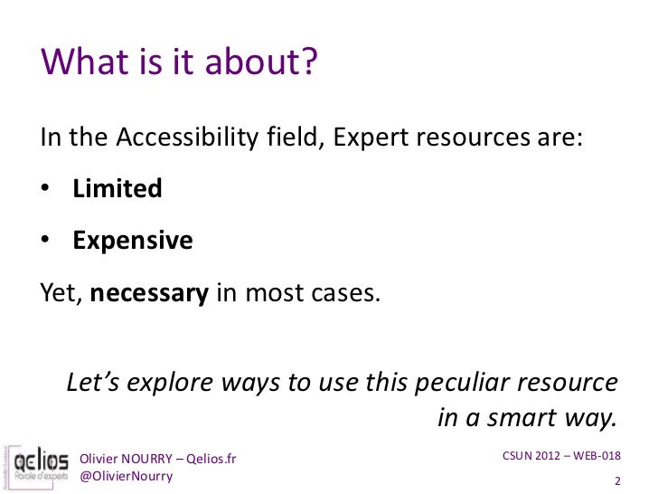Get the most out of your accessibility expert Slide 2