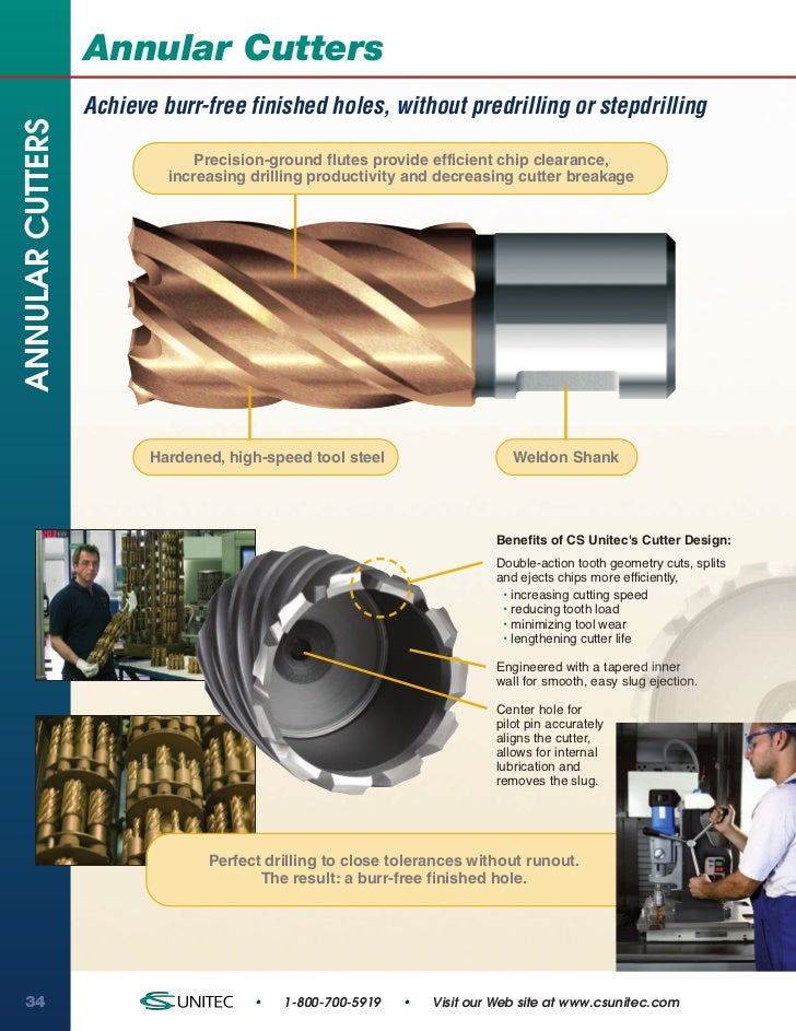 Annular Cutters                  Achieve burr-free finished holes, without predrilling or stepdrillingANNULAR CUTTERS     ...