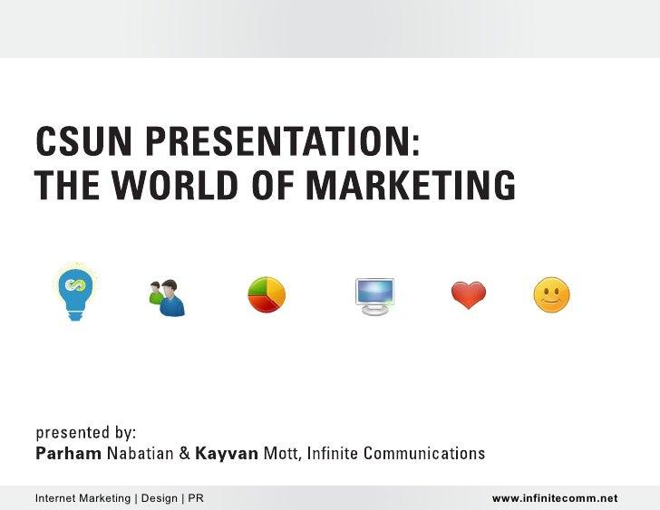Internet Marketing | Design | PR   www.infinitecomm.net
