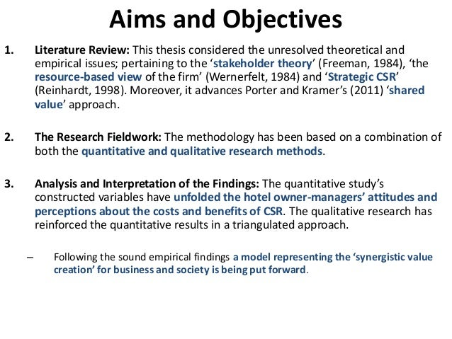 aim objectives thesis
