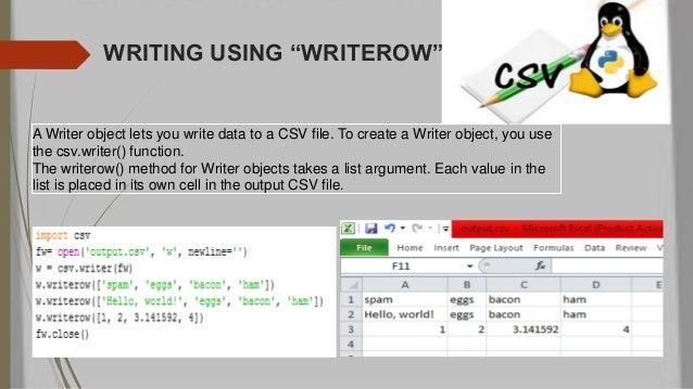 how to write to csv python