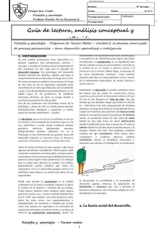 Colegio San Viator Filosofía y psicología. Profesor Martín De la Ravanal G. Filosofía y psicología – Tercero medio. 1 1. I...