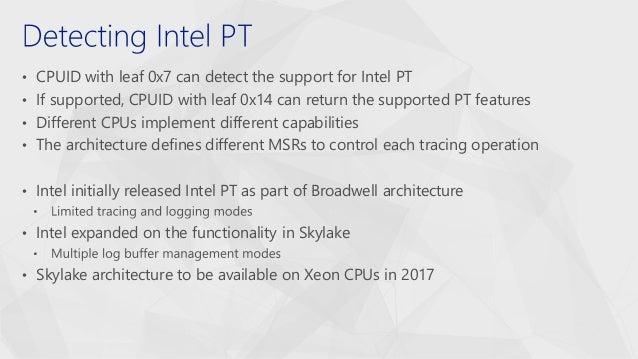 CSW2017Richard Johnson_harnessing intel processor trace on